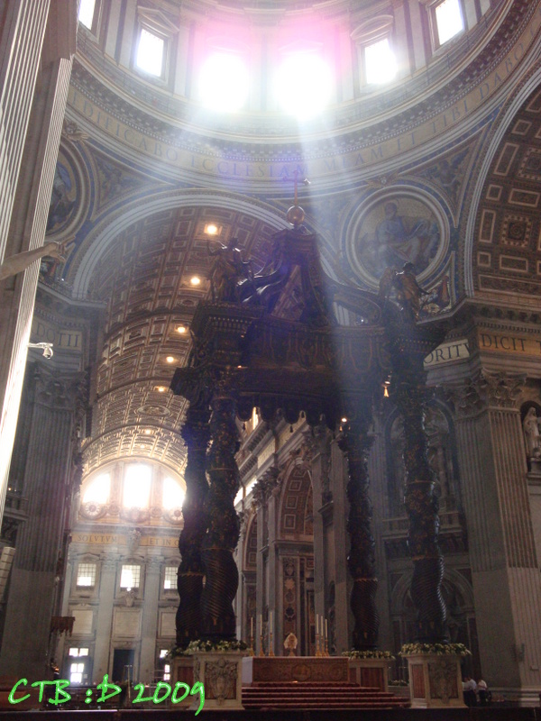 Sun or Heavenly Rays in St. Peter's Basilica?