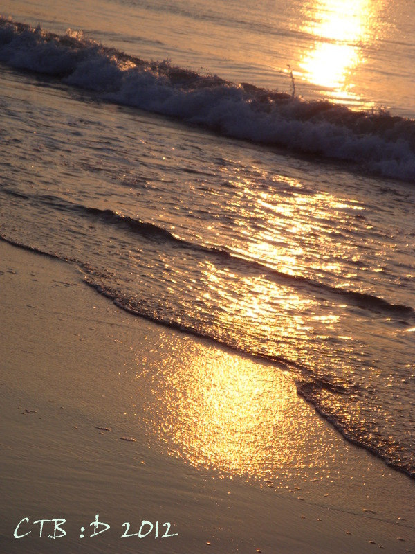 Sunrise Sparkles on the Surf