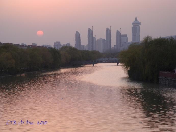 Sun is dull through the smog