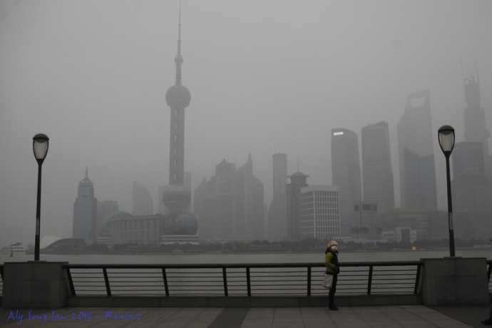 I didn't snap a photo of the worst smog this week, but I found this example from Reuters.