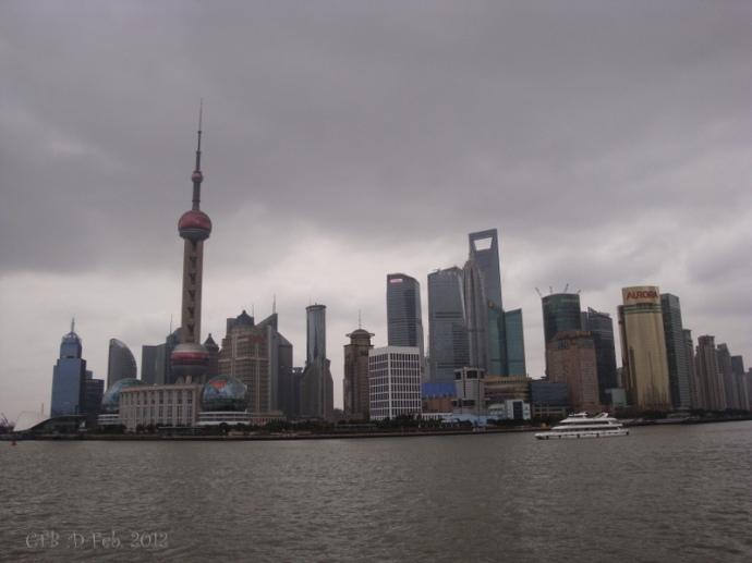 Shanghai Skyline taken along the Bund Feb. 2012