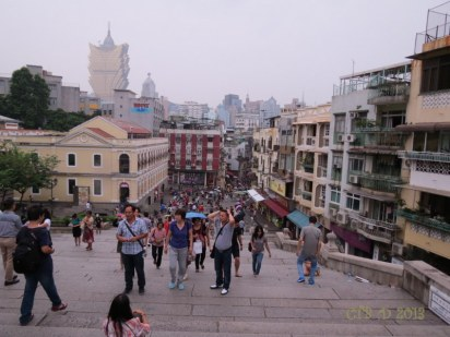 view of Macau from the top