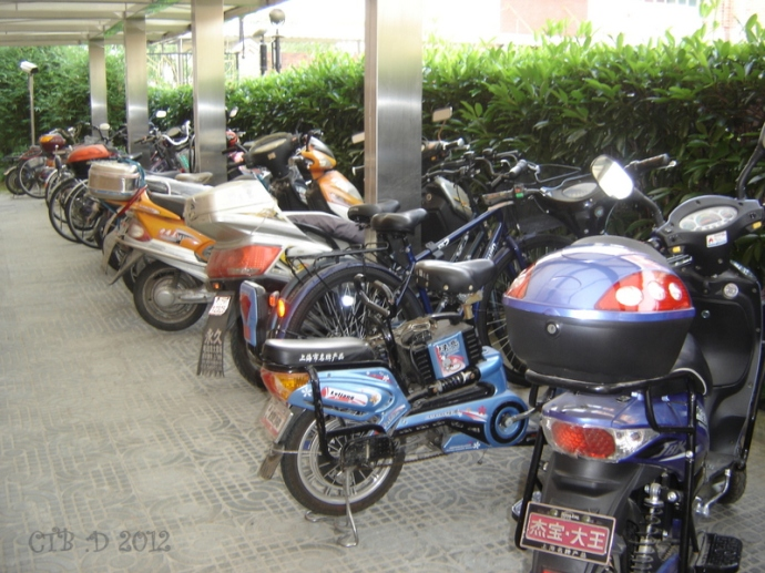 Staff Parking -bikes and motor scooters