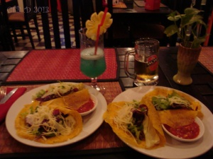 Christmas dinner  in Cambodia-tacos and cocktails