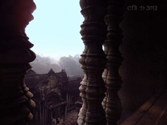 View over the grounds around Angkor Wat