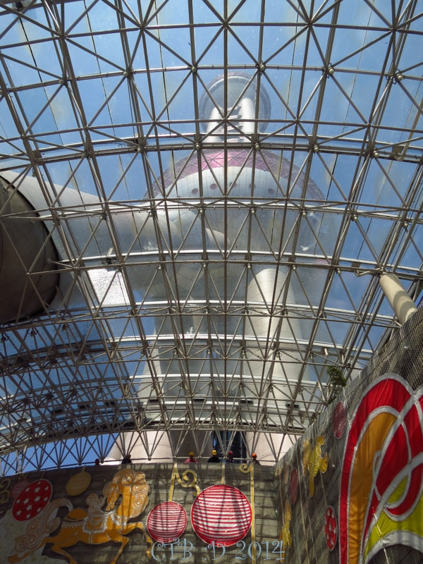 From the entrace looking UP at the Pearl Tower