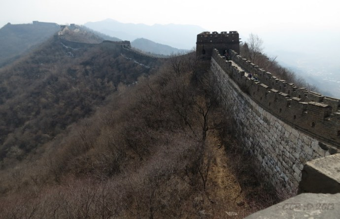 Panoramic views of the Great Wall in China