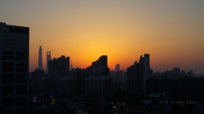 Shanghai Skyline Sunset -May 2014
