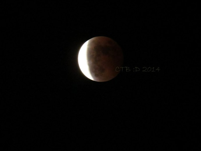 The eclipse -Shanghai Oct. 8, 2014