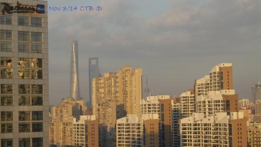 Shanghai Skyline -moderate levels <100
