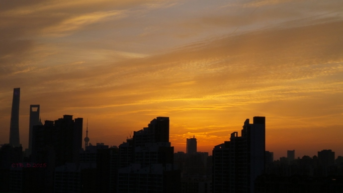The sun is setting on our Shanghai life