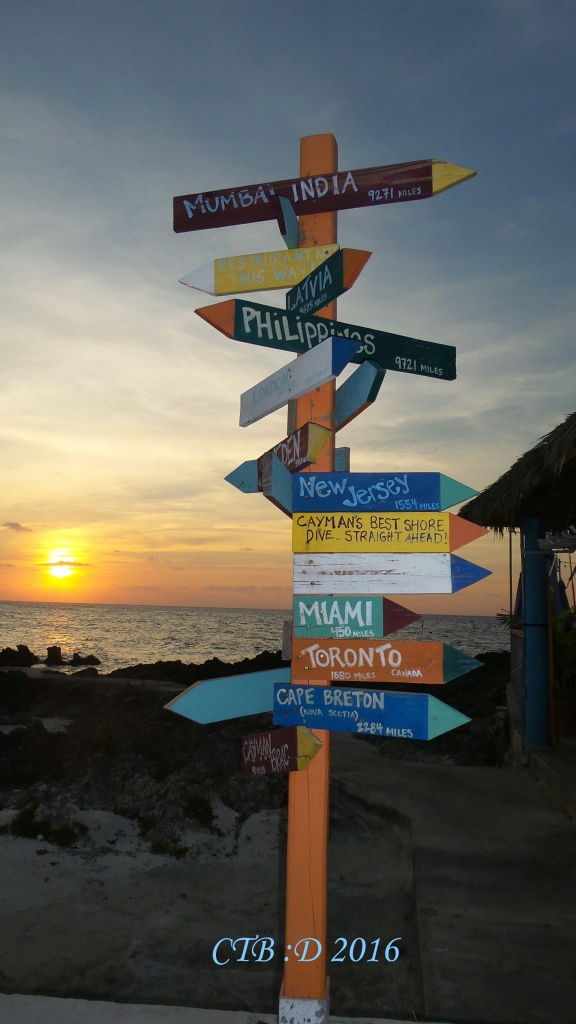 Where to next? As the sign points in all directions our future choices are endless.
